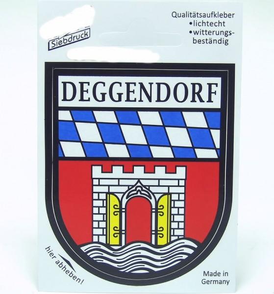 Aufkleber, Deggendorf Wappen