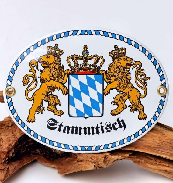 Stammtisch-Schild mit Wappen