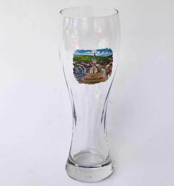 Weißbierglas mit Optik 0,5L Deggendorf
