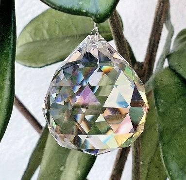 Kugel 30mm, Regenbogenkristall