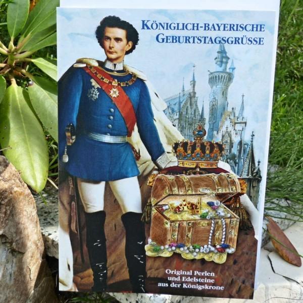 König Ludwig mit Schatz, Geburtstagskarte