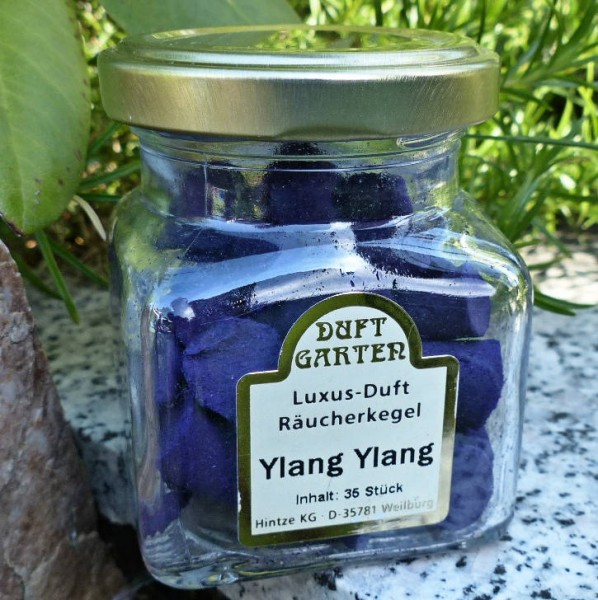 Ylang Ylang Räucherkegeln im Glas