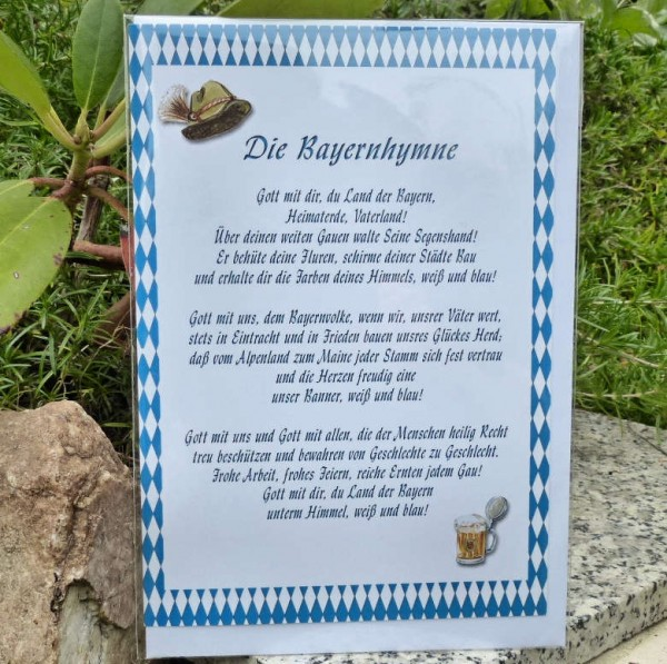 Bayernhymne, Glückwunschkarte