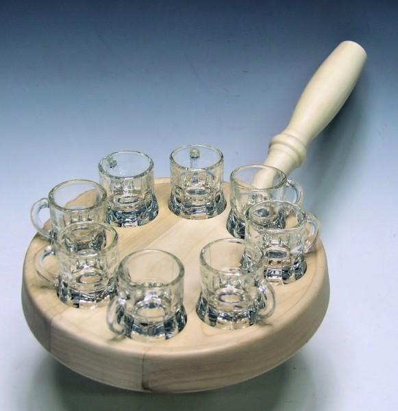 Schnaps-Pfanne, 8-Glas