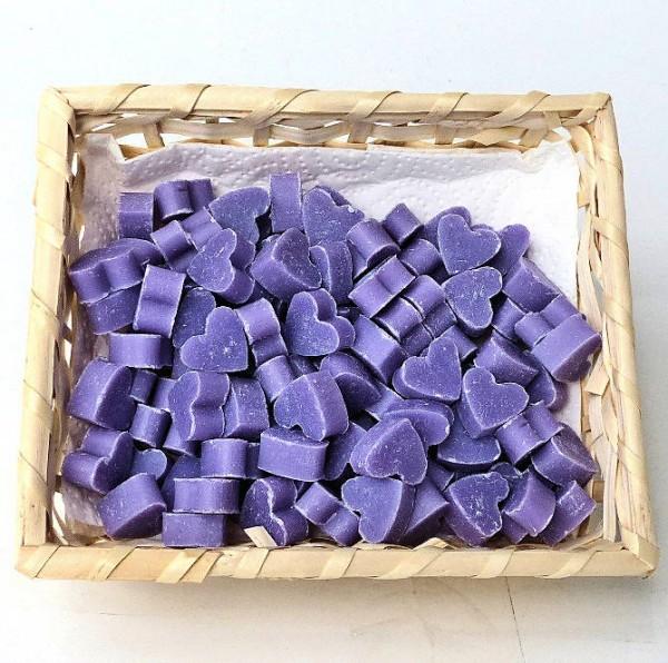 Lavendel-Herz Schafmilchseife mini