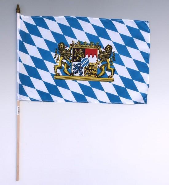 Stockflagge Bayern, 30x45cm