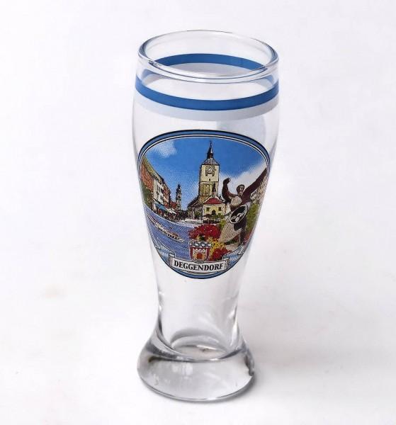 Weißbierglas Mini 0,04L Deggendorf