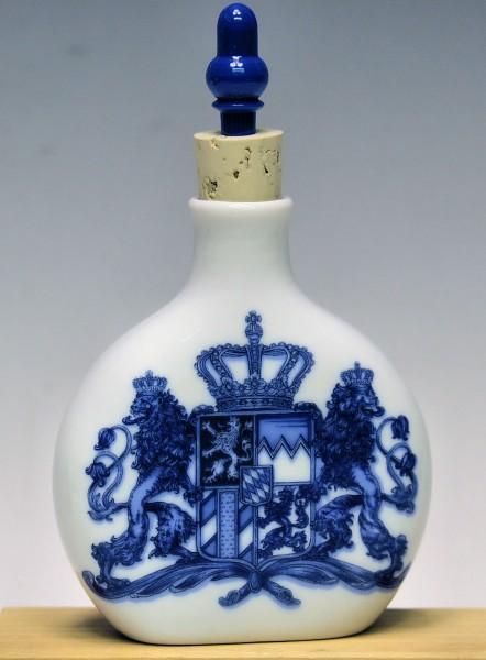 Schnupferflasche, Bayernwappen blau