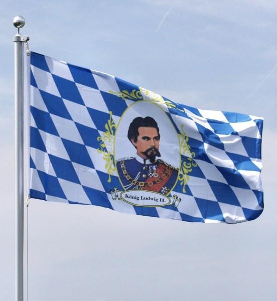 Flagge König Ludwig, 90x150cm