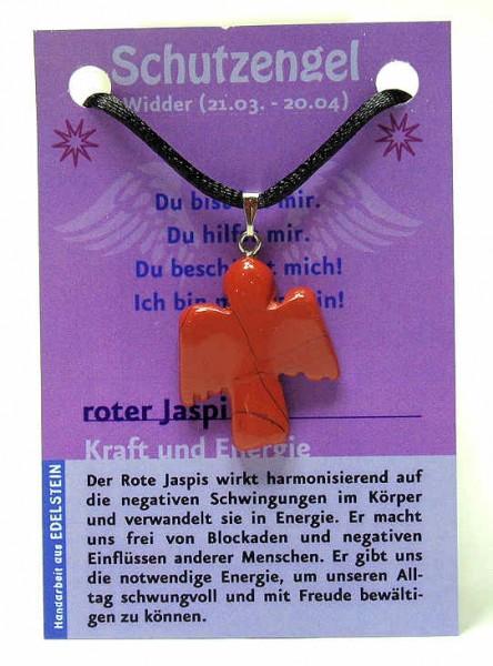 Jaspis rot Schutzengel, Anhänger