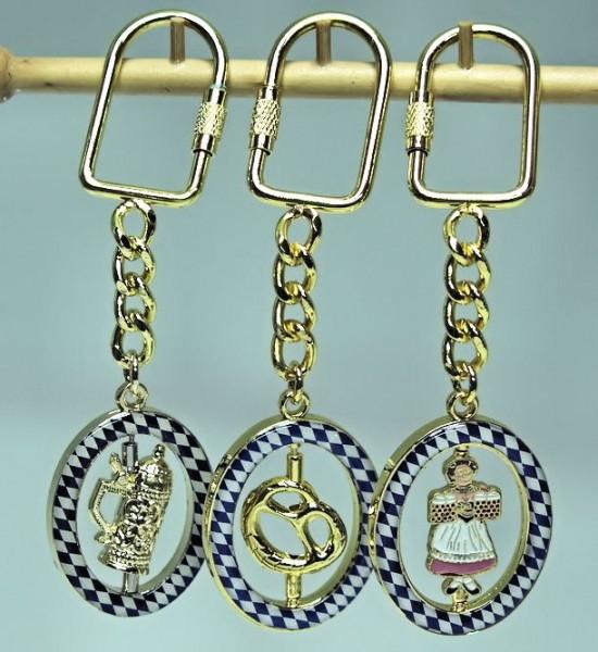 Schlüsselanhänger, Bierlady-Bierkrug-Brezel