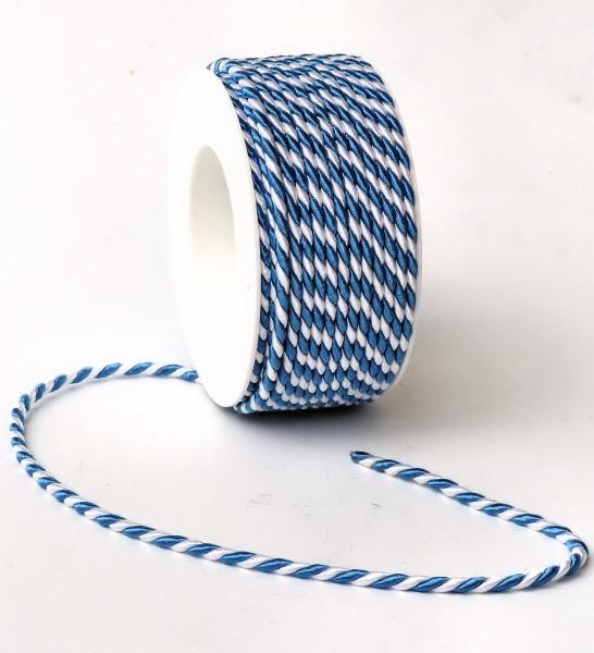 Kordel weiß-blau 4mm