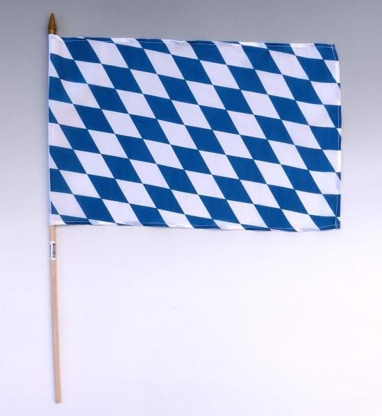 Stockflagge Bayernraute, 30x45cm
