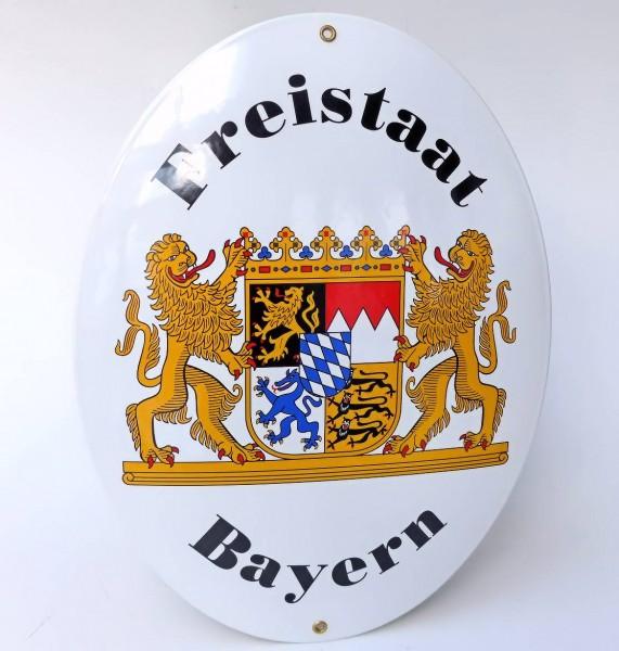 Emaill-Schild, Freistaat Bayern XXL