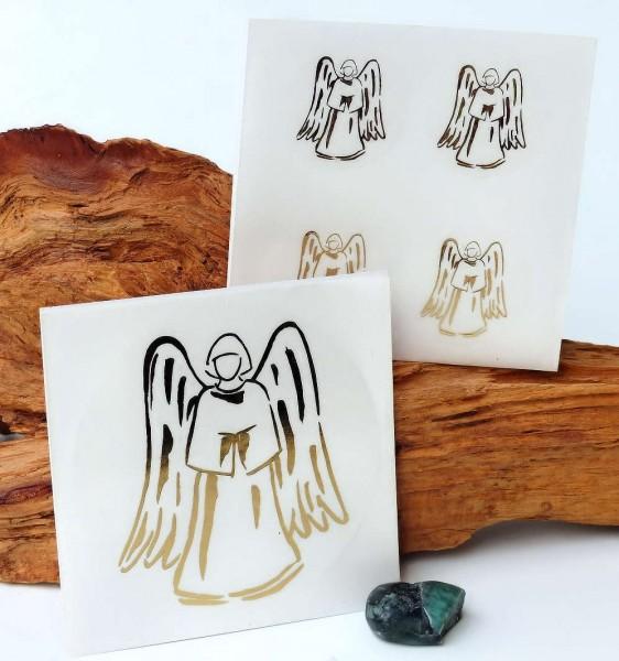 Aufkleber-Set, Engel gold