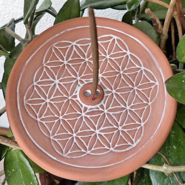 Blume des Lebens natur, Stäbchenhalter