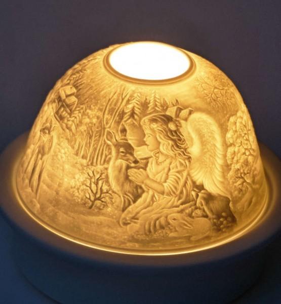 Engel mit Reh, Starlight-Teelicht