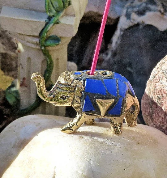 Elefant Stäbchenhalter, Messing