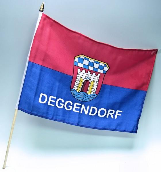 Stockflagge Deggendorf, 30x45cm