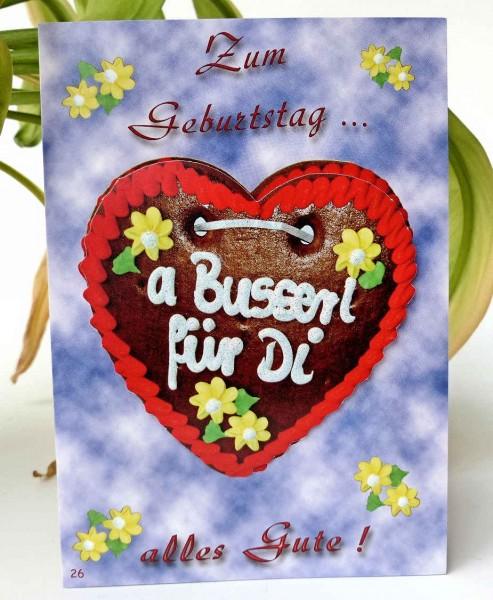 Busserl für Di, Geburtstagskarte