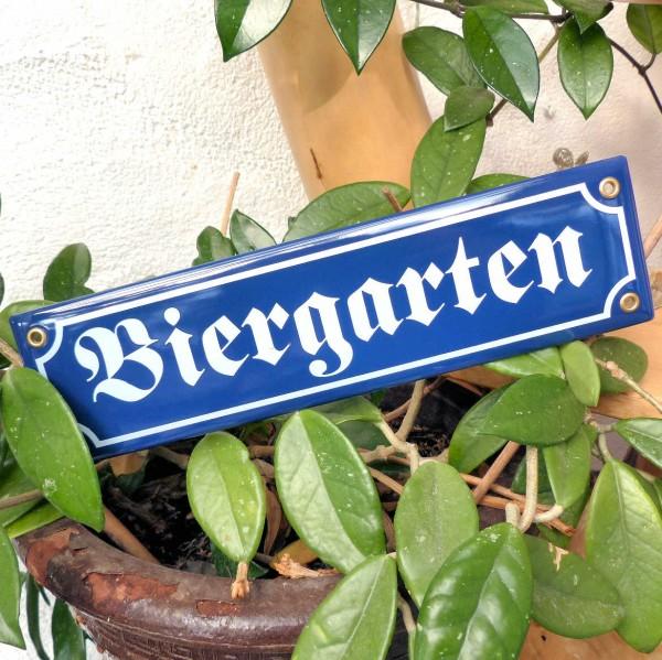 Biergarten Emaille-Schild