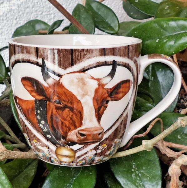 Herz mit Kuh, Tasse