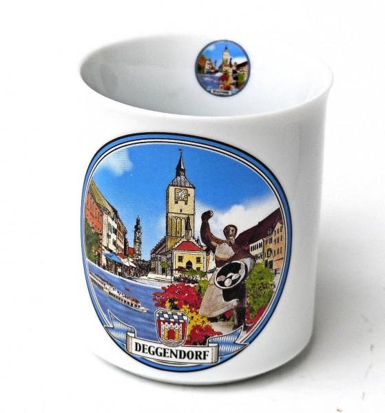Haferl Deggendorf mit Stadtbild