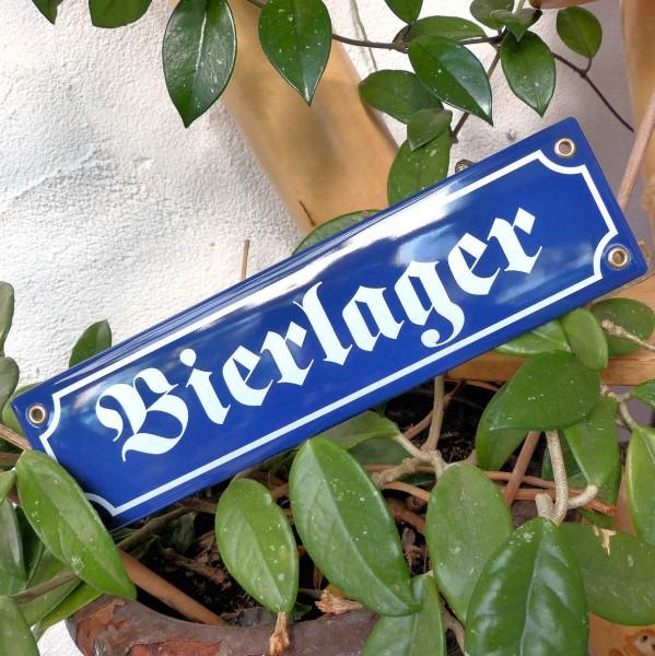 Bierlager, Schild