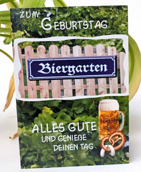 Biergarten, Geburtstagskarte