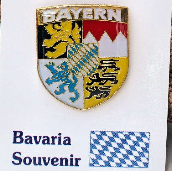 Wappen Anstecker, Pin Bayern
