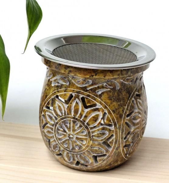 Sonnenblume, Teelichtofen ocker