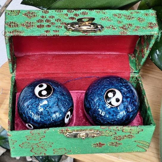 Yin-Yang, Qi-Gong Klangkugeln blau