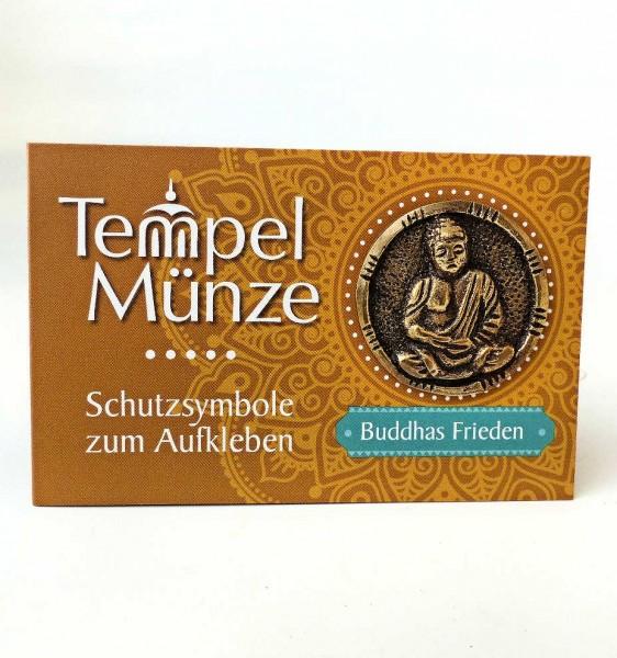 Buddhas Frieden, Tempel-Münze