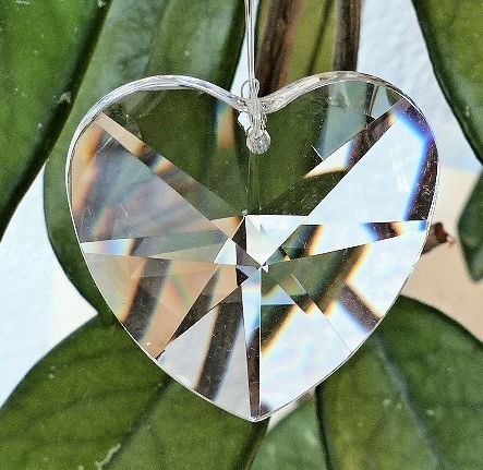 Herz Regenbogenkristall