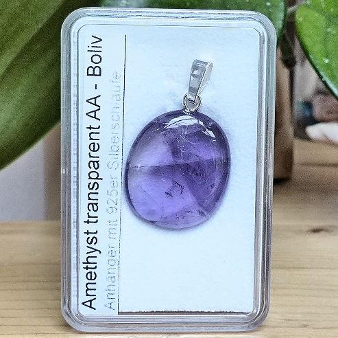 Amethyst transparent, Steinanhänger