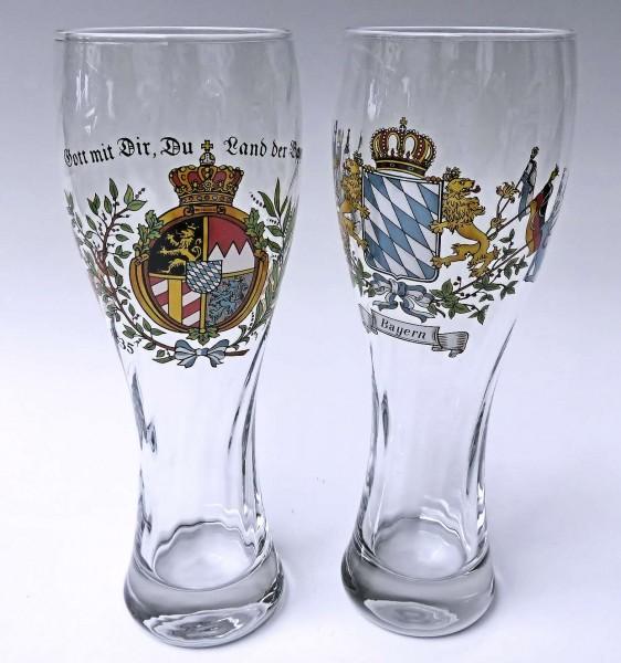 Weißbierglas mit Optik 0,5L