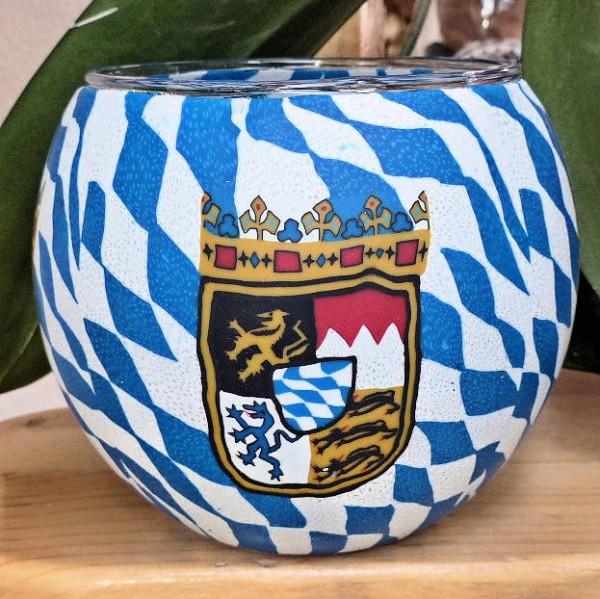 Teelichtglas Bayern