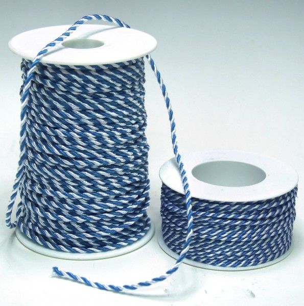 Kordel weiß-blau 3mm