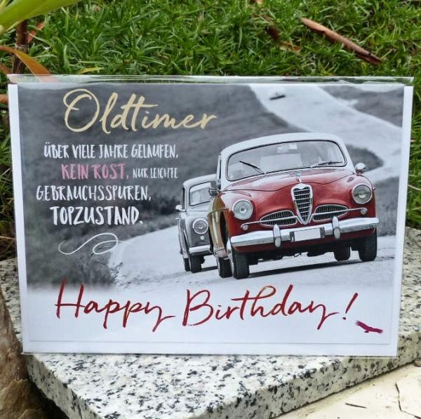 Oldtimer, Geburtstagskarte