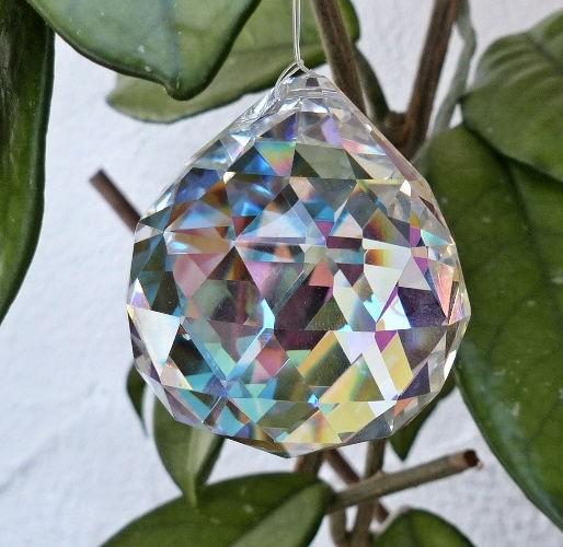 Kugel 40mm, Regenbogenkristall