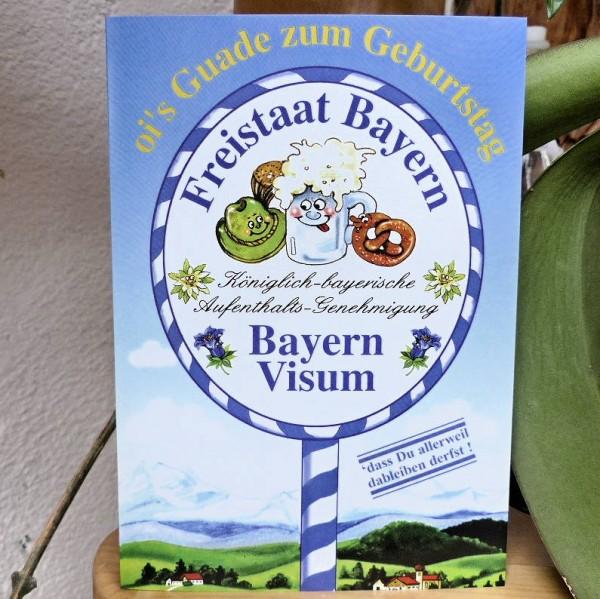 Bayern-Visum, Geburtstagskarte