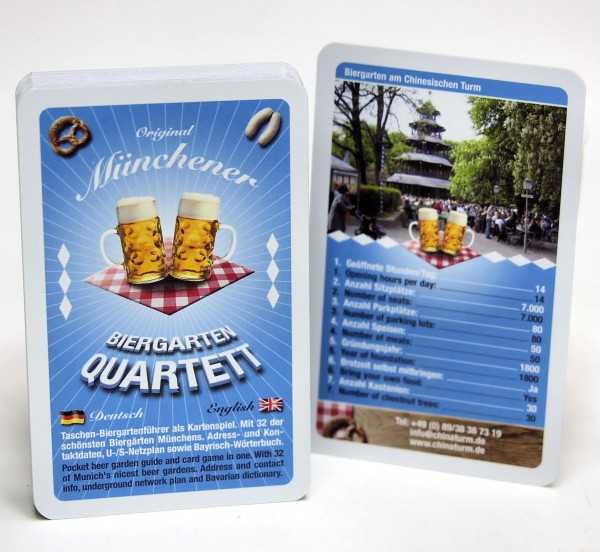 Biergarten Quartett, Kartenspiel