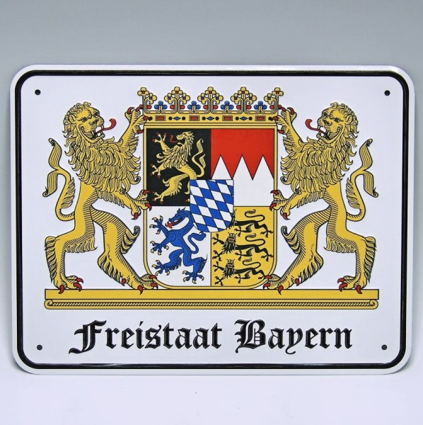 Blechschild, -Freistaat Bayern-