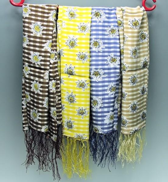 Silk-Schal mit Edelweißmotiv