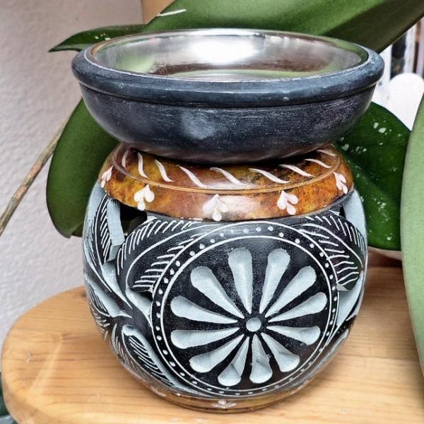Ana Teelichtofen, ocker-schwarz
