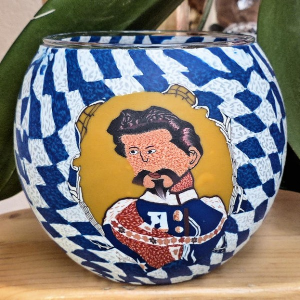 Teelichtglas König Ludwig II