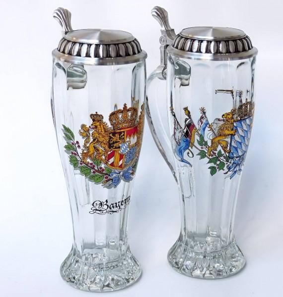 Weißbierglas Optik, Henkel und Deckel 0,5L