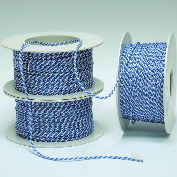 Kordel weiß-blau 2mm