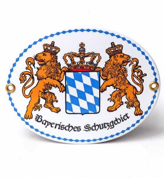 Bayerisches Schutzgebiet, Emaille-Schild