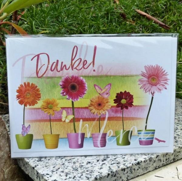 Blumentöpfe, Dankekarte